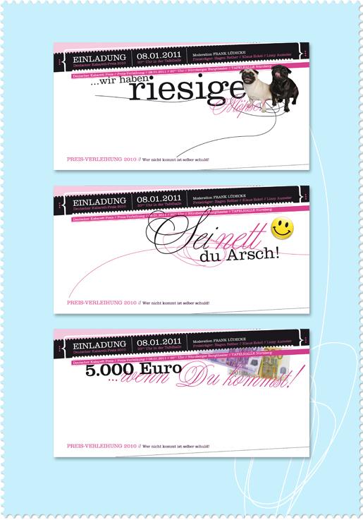 Einladungskarten Kabarett-Preis