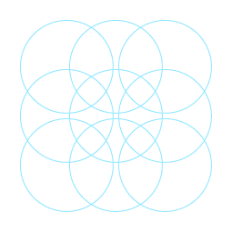 Einfaches Muster aus Kreisen