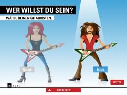 Sei ein Rockstar – Avatar wählen