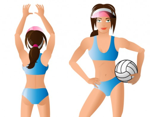 Illustration einer Volleyball Spielerin