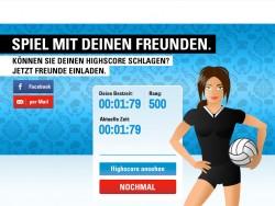 Volleyball Spiel Highscore Liste