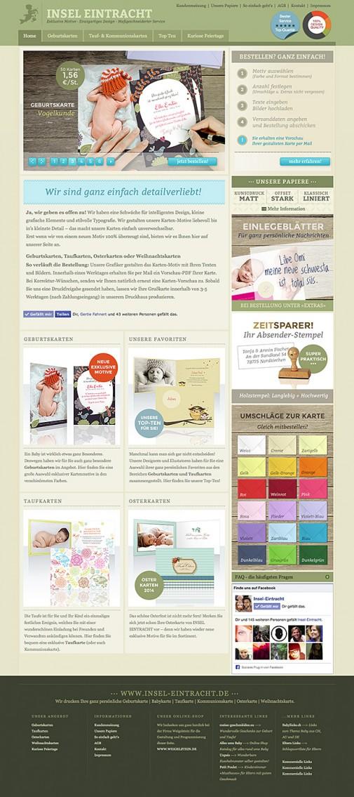 Insel Eintracht Website Homepage