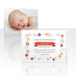Insel Eintracht Babykarte Blümchen