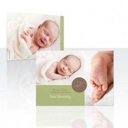 Insel Eintracht Babykarte Monogramm